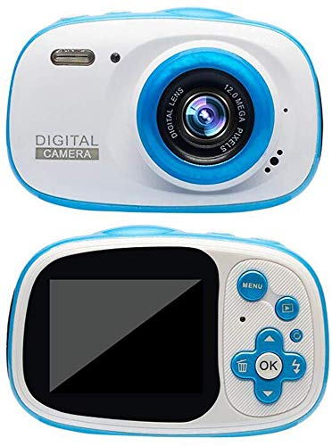 FXDCQC Kinderkamera wasserdichte Digitale Kamera für Kinder Videokamera mit 32GB TF-Karte/HD 1080/8 Megapixel/ 2-Zoll-LCD