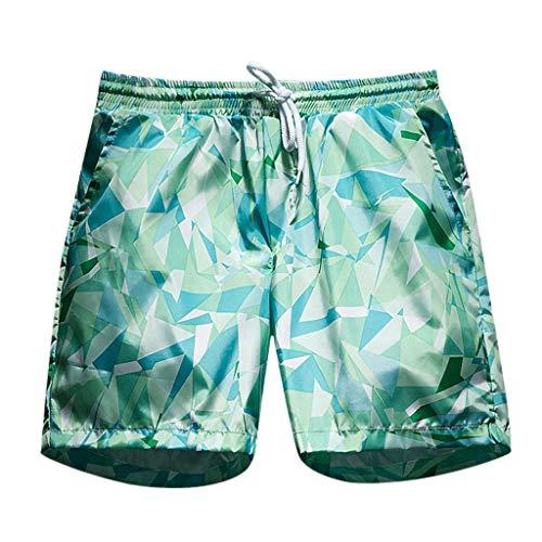 Btruely Männer Schnell Trocknend Strand Shorts Urlaub Gedruckt Badehose mit Taschen Casual Anzug, Herren Sommershorts Straight Sports Loose Printed Beach Shorts