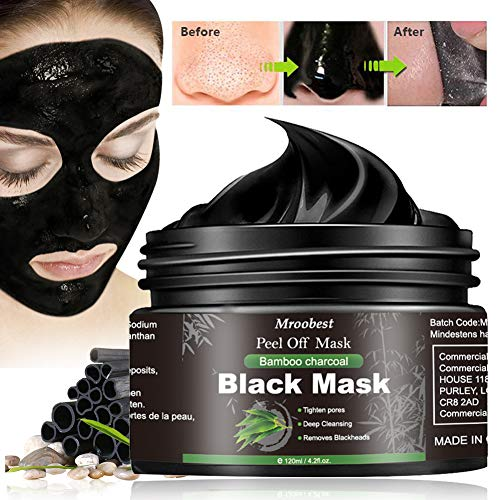 Blackhead Maske, Mitesser Maske, Peel off Maske, Bambus Holzkohle Peel Off Maske, Anti Öl Tiefenreinigung, gegen unreine Haut, Akne, fettige Haut& Mitesser - 120g/4.23 fl.oz