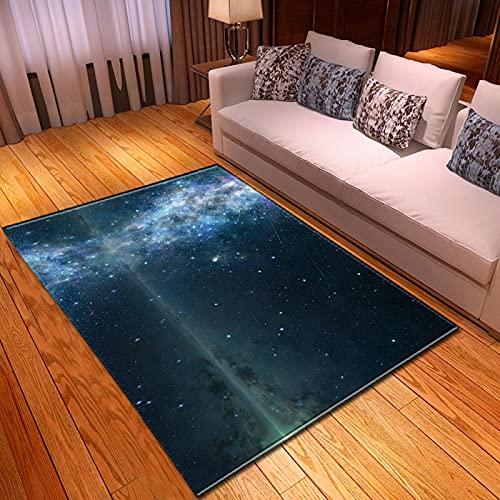 Alfombra Nórdica De Franela Suave Galaxy Space Impresión 3D Alfombras De Área De Juego Para Niños Alfombra De Salón Alfombras Grandes Antideslizantes Para La Decoración De La Sala De Estar 120X180Cm