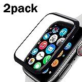 RHESHINE Apple Watch フィルム Apple Watch ガラスフィルム Series 3/2/1 42mm 液晶保護フイルム【2枚セット】3D曲面カバー 滑り心地抜群 高透過率 防指紋 硬度9H HD画面対応 気泡レス アップル ウォッチ シリーズ 3/2/1 強化ガラス 全面保護フィルム(42mm)