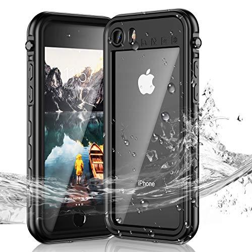 Janazan iPhone 7/8 Waterproof Case, IP68 Certified Full Sealed Underwater Protective Case, Waterproof Shockproof Snowproof Dirtproof for iPhone 7/8 4.7 inch (Black/Clear)