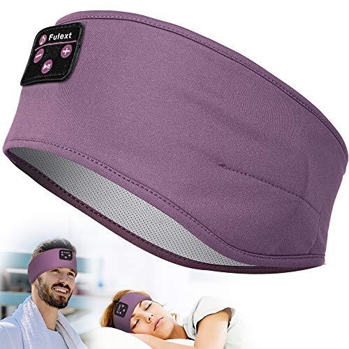 Fulext Schlaf Kopfhörer Ohrstöpsel, Kabellos Sport Stirnband Kopfhörer mit HD Stereo Lautsprecher für Sport, Seitenschläfer, Flugreisen, Meditation