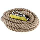 NiceDD Heavy Duty 13 Feet/4M Gym Climbing Ropes with Carabiner for Adult Improve Grip and Increase Power
