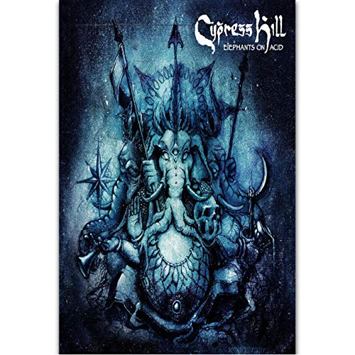 Zahuishile Carteles e Impresiones Cypress Hill Elephants On Acid Nuevo álbum Personalizado Art Poster Canvas Painting Home Decor 40X60Cm sin Marco