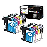 FreedomInk LC123 - Cartuchos de tinta compatibles con Brother LC 123 LC-123 XL para Brother DCP-J132W J152W J172W J552DW J752DW J4110DW MFC-J245 J470DW J650DW J870DW J4410DW J4610DW J6520DW J6720 DW.