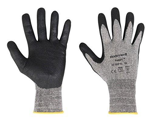 Honeywell 2232273-10/MPP PSS Polytril Air Comfort handschoenen, fijne handgreep in olieachtige omgeving, 11, grijs/zwart, 10