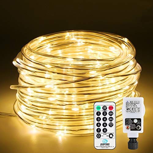 Lichtschlauch mit 200LED, Infankey 20M Led Schlauch mit Fernbedienung, 8 Modi & Timer, Helligkeit Dimmbar, IP65 Wasserdicht(Lichtschlauch )IP44(Stecker), Lichterschlauch für Zuhause, Außen, Deko