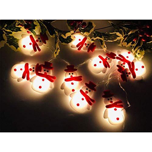 Wondsea Weihnachtliche Schneemann-Lichterkette, 3 m, 20 LEDs, Weihnachtsdekoration mit 2 Beleuchtungsmodi für Weihnachten, Zuhause, Garten, Schlafzimmer und Innen- und Außendekoration