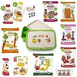 Freche Freunde Snackbox-Paket, Bio Kindersnacks für Kinder mit Lunchbox