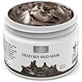 Anjou Dead Sea Mud Mask, Made in Israel, Deep Pore Cleansing and Detoxifying for Face and Body, 100 Natural Mineral-Rich Mask, 8 oz / 250 ml
