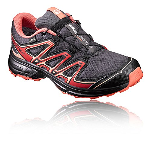 Salomon Wings Flyte 2 GTX W, Scarpe da Trail Running Donna, Vari Colori (Magnet/Black/Living Coral), 38 2/3 EU