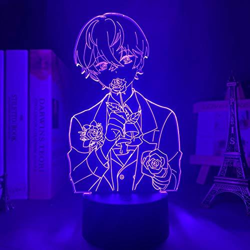 Lámpara 3d Mystic Messenger luz de noche LED para decoración de la habitación de los niños, regalo de cumpleaños, lámpara Mystic Messenger