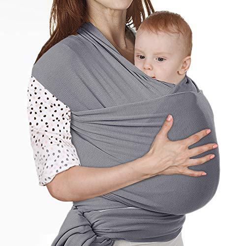 Lictin Fascia Porta Bambino - Fascia Porta Bebè Elastica, Baby Wrap, Marsupio Fascia Neonato per Neonati e Bambini Fino a 16 kg, Morbido e Confortevol