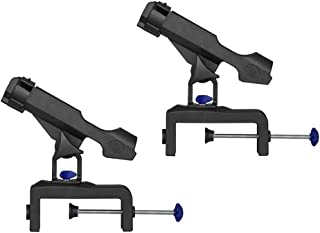 Baosity 2pcs Fishing Pole Rod Holder Tackle Kit (Clamp On 1-3/4 inch), Adjustable Side for Kayak/Boat
