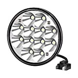 H5001 Led Headlight Par46 LED Light for Unity Spotlight, 5.75' 5-3/4' Round Led Pods for Truck Offroad Led Work Light Replacement Sealed Beam Projector 36W Chrome(1 Pcs)
