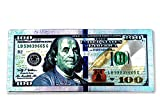 LUCKY EYE MAGIC  100 Dollar Bill Refrigerator Magnet, Multicolor Wall Magnet with 100 Dollar Bill Etched in Silver, Green, Bronze Colors, Great Gift, 2.5 x 6