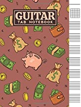 Guitar Tab Notebook: Blank 6 Strings Chord Diagrams & Tablature Music Sheets with Money Themed Cover Design