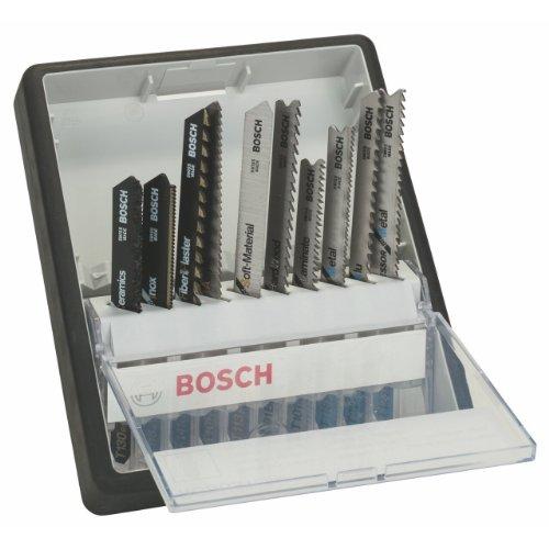 Bosch 2 607 010 574 - Juego de 10 hojas de sierra de calar Robust Line Top Expert, vástago en T - - (pack de 1; 1; 1; 1; 1; 1; 1; 1; 1; 1)
