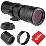 Opteka 420-800mm (w/ 2X- 840-1600mm) f/8.3 HD Telephoto Zoom Lens for Canon 90D,...