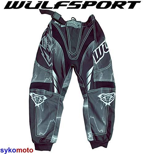 Motorrad Hosen Schwarz Wulfsport Wulf Kids Forte 2020 Motocross ATV MTB BMX Dirt Fahrrad Cub Pants (20 inches)