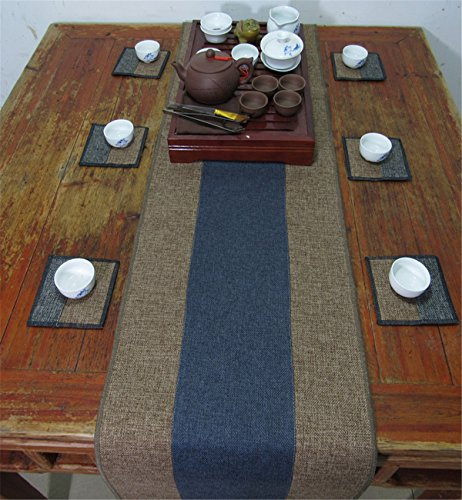 Sucastle® 35x260cm tissu Chemin de Table Cuisine Imperméable Décoration en Aspect naturel