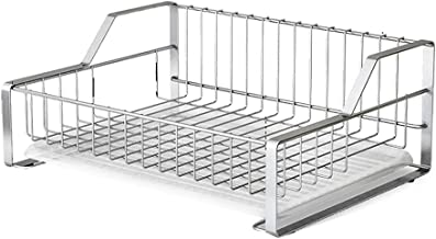 FEI Teng European Style Silver Single Layer Kitchen Storage Rack Dish Rack Drainage Table Countertop Dish Rack (Color : A)