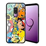 for Galaxy S9 Plus, Pocket Monsters 090 Design Tempered Glass Phone Case, Anti-Scratch Soft Silicone Bumper Ultra-Thin Galaxy S9 Plus Cover for Teens and Adults