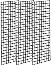 Econoco Commerical Grid Panels, 2' Width x 5' Height, White (Pack of 3)