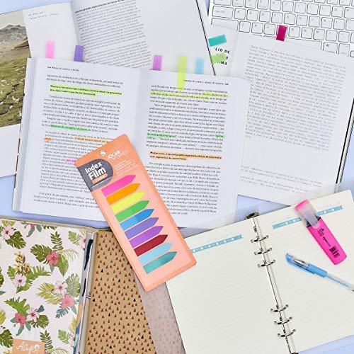 Bloco Marcador Página Adesivo, Jocar Office, Index Film, 5 Cores Pastel, 24 Folhas
