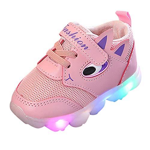 Baby Mädchen Jungen Unisex Kleinkind Schuhe Piebo Mode Kinder Sneaker Krabbelschuhe Kind Bunte helle Schuhe Kinder Schuhe mit Licht Led Leuchtende Blinkende Turnschuhe Wander Outdoor Sportschuhe