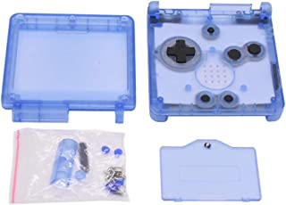 Meijunter  Housing Shell Case for Gameboy Advance SP GBA SP Console(Transparent Clear Blue)