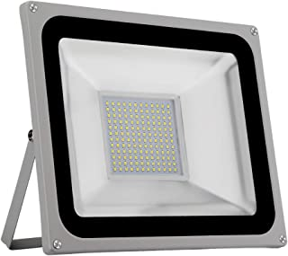 100W Garden Flood Light, LED Yard Landscape Spotlight with Cold Light, Home Decoratvie Wall Lamp,Waterproof Industry Secur...