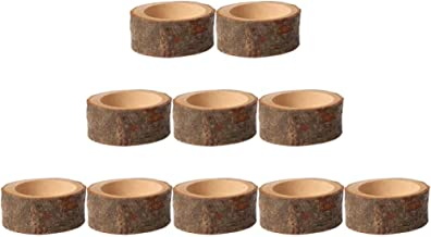 KESYOO 10pcs Wood Tealight Candle Holder Succulent Plant Pot Flower Container for Weddings Dinner Table Decoration