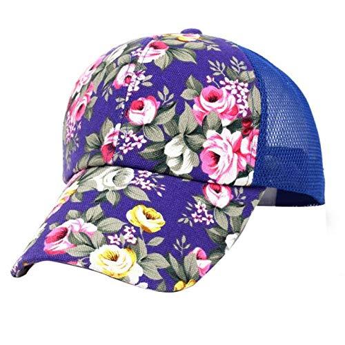 Yidajiu Baseball Cap hoed zomer vrouwen zonnehoed borduurwerk katoen baseball hoed muts jongens meisjes hip hop platte hoed vrouwen blauw
