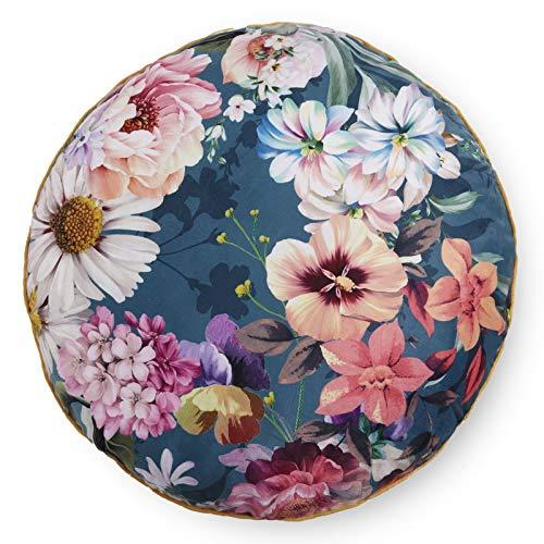 Descanso Leewadee Novara 9337.68.76 - Cojín redondo (microfibra, 1 pieza, 55 cm), color azul