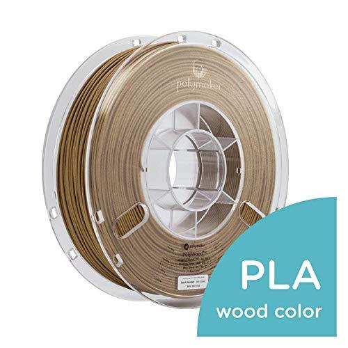Polymaker Specialty 3D Printer Filament, PolyWood PLA Filament, 2.85mm Filament, 600 Gram, Wood Color