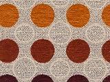 Möbelstoff Stage Point 4004 (orange, rot, braun, beige) -
