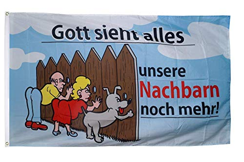 Flaggenfritze® Flagge/Fahne Gott Sieht Alles - 90 x 150 cm