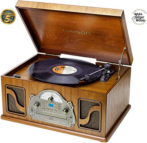 Lauson IVX72 Multifunctionele Bluetooth platenspeler | Vintage Design voor UK