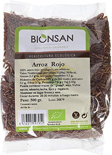 Bionsan Arroz Rojo Ecológico - 6 Bolsas de 500 g - Total: 3000 g