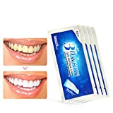 Teeth Whitening Strips, 28Pcs Teeth Whitening Kit, Peroxide-Free 3D Whitestrips No Sensitivity Home Tooth Bleaching for Tooth Whitening 28 Days Treatment (28PCS)