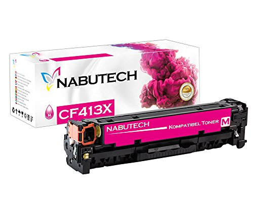 Nabutech toner als vervanging voor HP CF413X CF413A Magenta compatibel met HP Color Laserjet Pro M452nw, M452dn toner, Pro MFP M377dw, M477fnw toner, MFP M477fdn toner | Getest volgens ISO-norm 19798 |