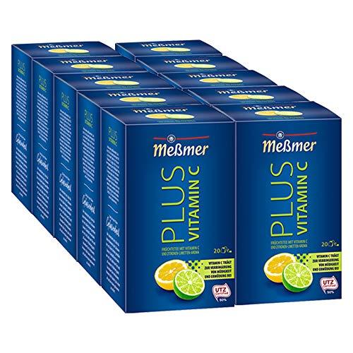 Meßmer PLUS Vitamin C Zitrone-Limette, 10er Pack