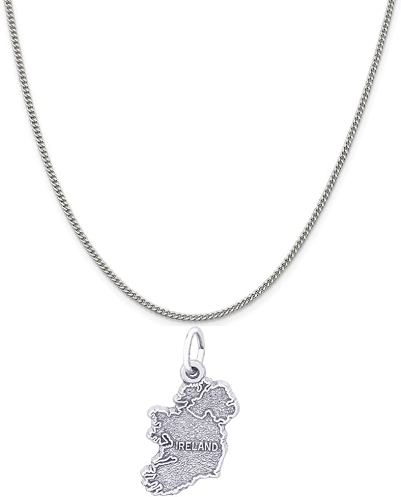 Rembrandt Charms 1 year warranty Sterling Silver Ireland Charm on 16 18 Award-winning store 20 a or