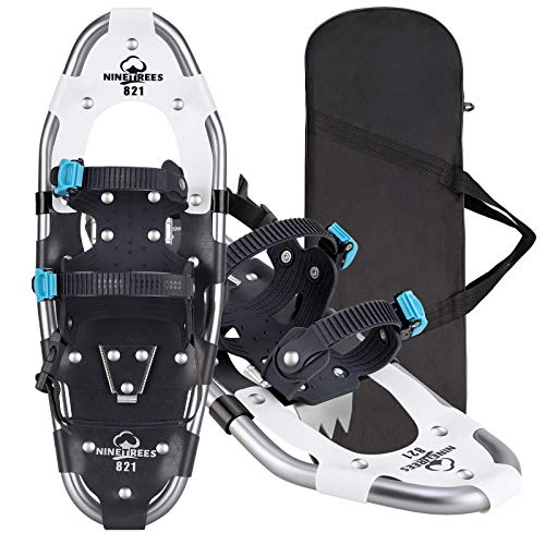 Snowshoes for Men Women Youth Kids, Lightweight Aluminum Alloy All Terrain Snow Shoes with Adjustable Ratchet Bindings with Carrying Tote Bag ,14'/21'/ 25'/27'/ 30'