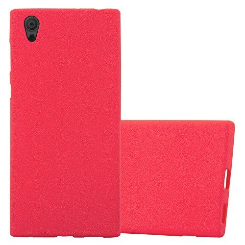 Cadorabo Coque pour Sony Xperia L1 en Frost Rouge - Housse Protection Souple en Silicone TPU avec Anti-Choc et Anti-Rayures - Ultra Slim Fin Gel Case Cover Bumper