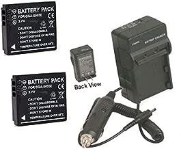 2 Batteries + Charger BP-DC4 BP-DC4-U BP-DC04-E for Leica C-LUX 1, Leica D-LUX 2 3 4