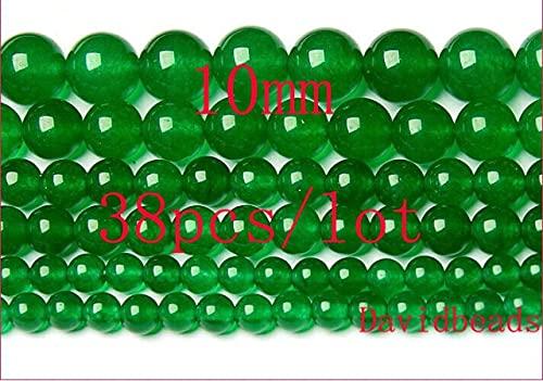 YANGYUE Precio de fábrica Piedra Natural Verde Jadee Cuentas Sueltas Redondas 4Mm 6Mm 8Mm 10Mm 12Mm Tamaño de selección para la fabricación de Joyas