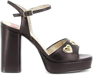 Luxury Fashion | Love Moschino Women JA1628AG0AJA0000 Black Leather Sandals | Spring-summer 20